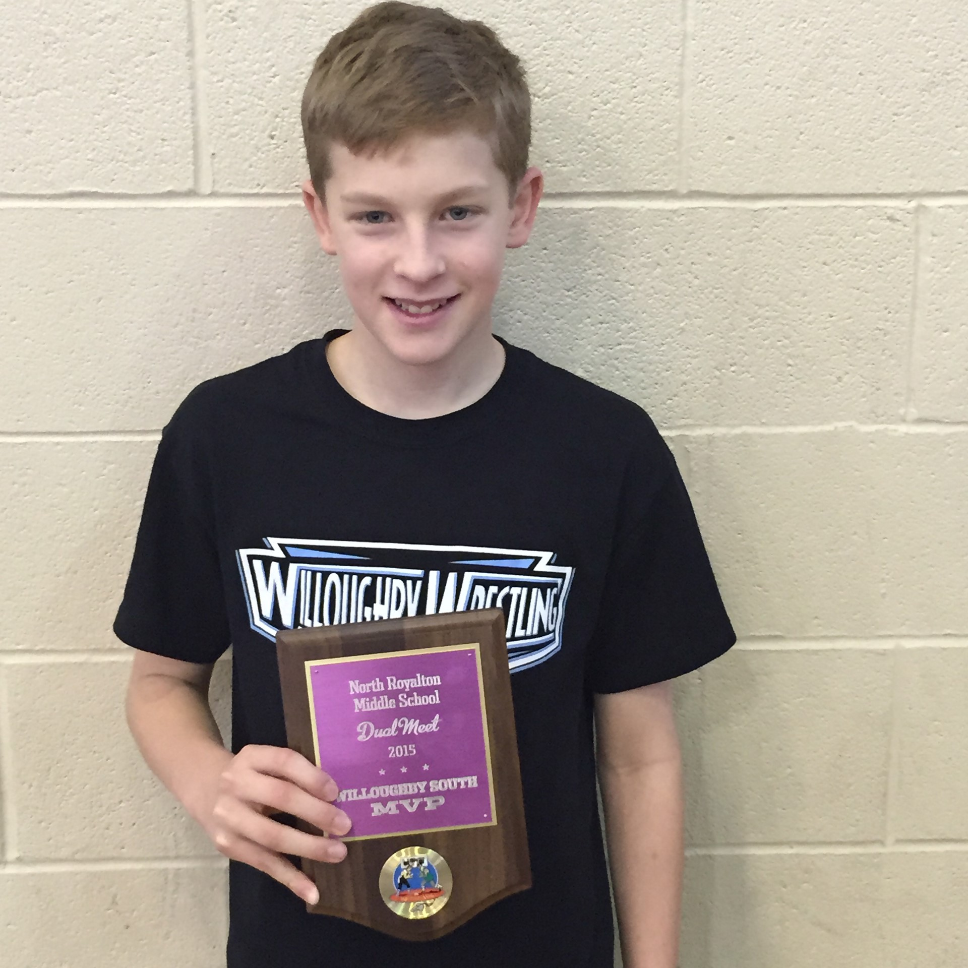 Jackson Homage of Willoughby Middle MVP of North Royalton tournament!