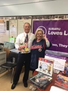 John Romeo from Subaru with Mrs. Royko