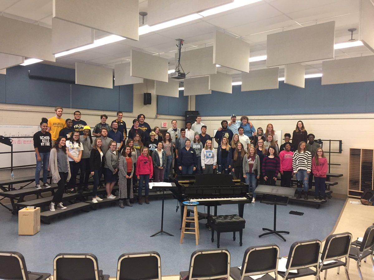 South choir with University of Toledo choir