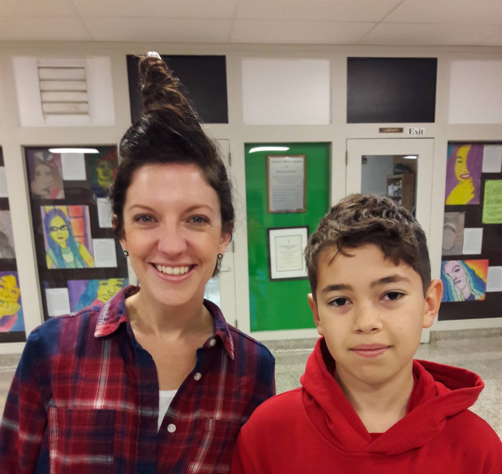 Mrs. Royko with her Hair Stylist Alex
