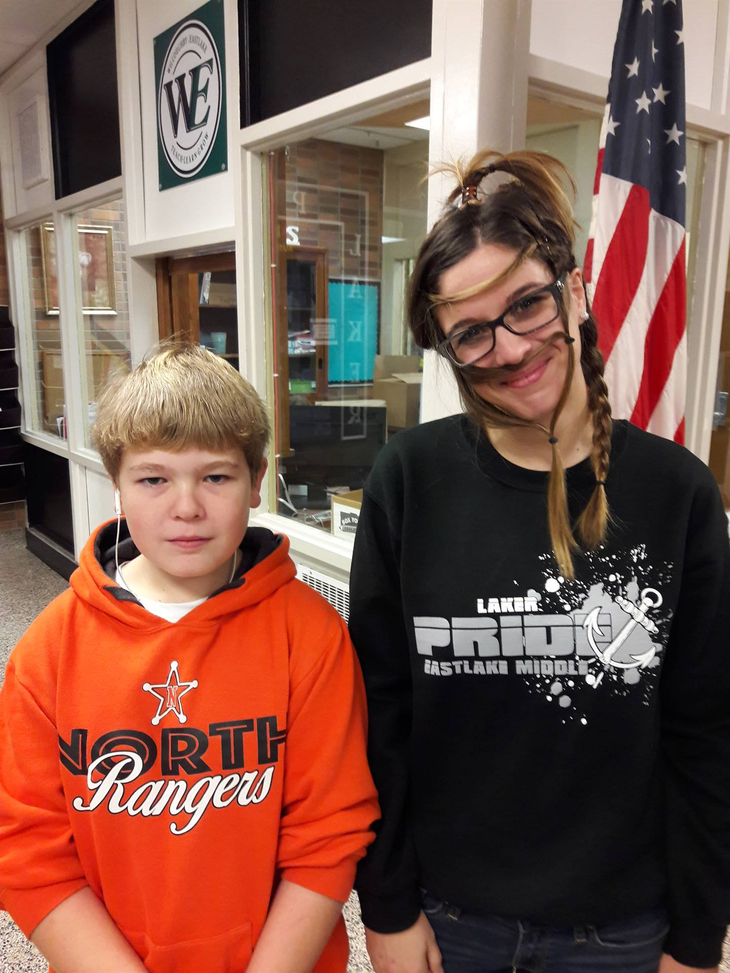 Mrs. Virostek with her Hair Stylist Bryce