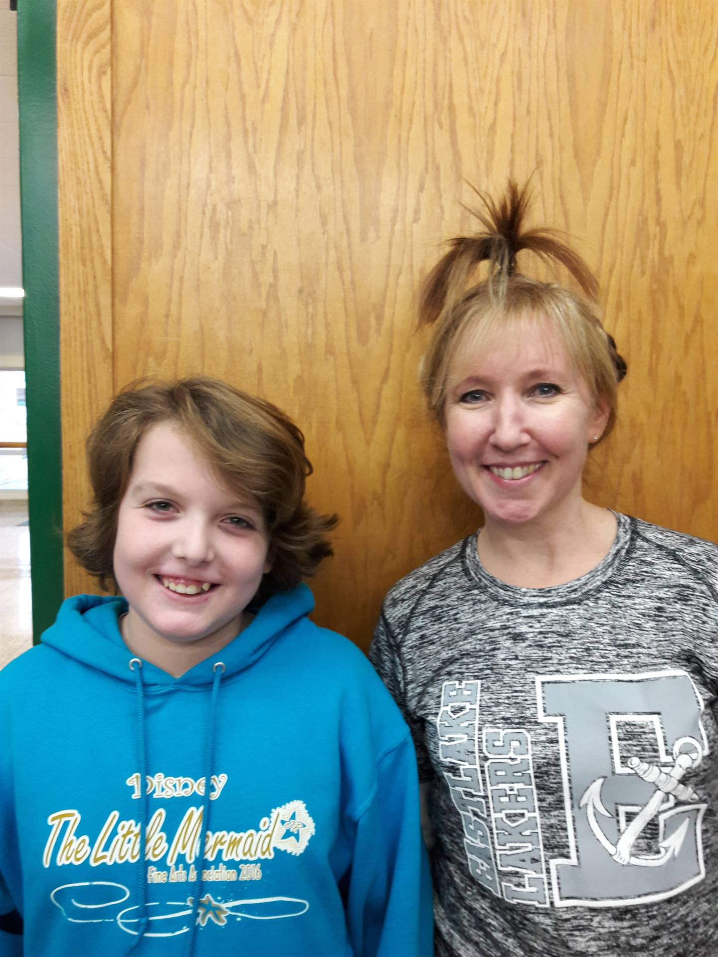 Mrs. Hodson with her Hair Stylist Luke