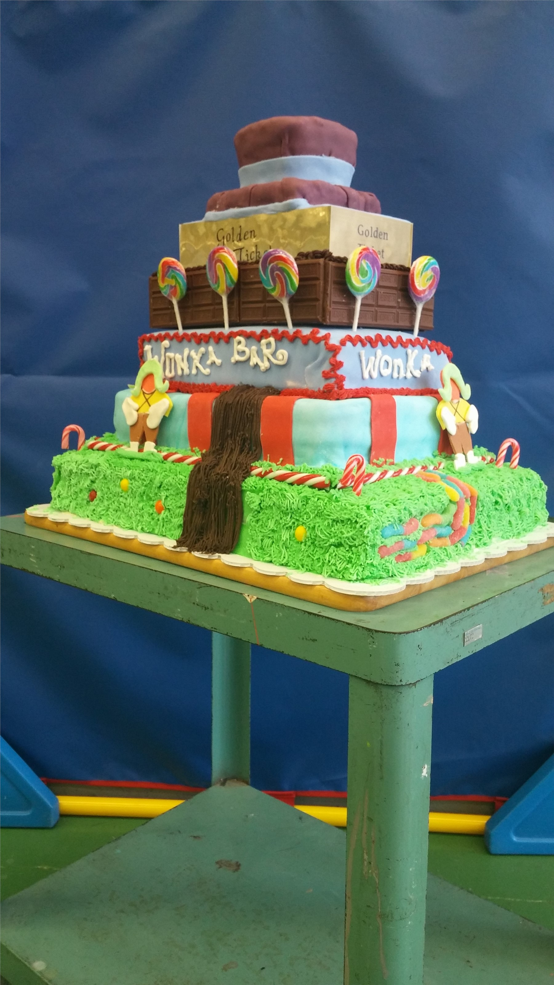 Side View of Winning Cake