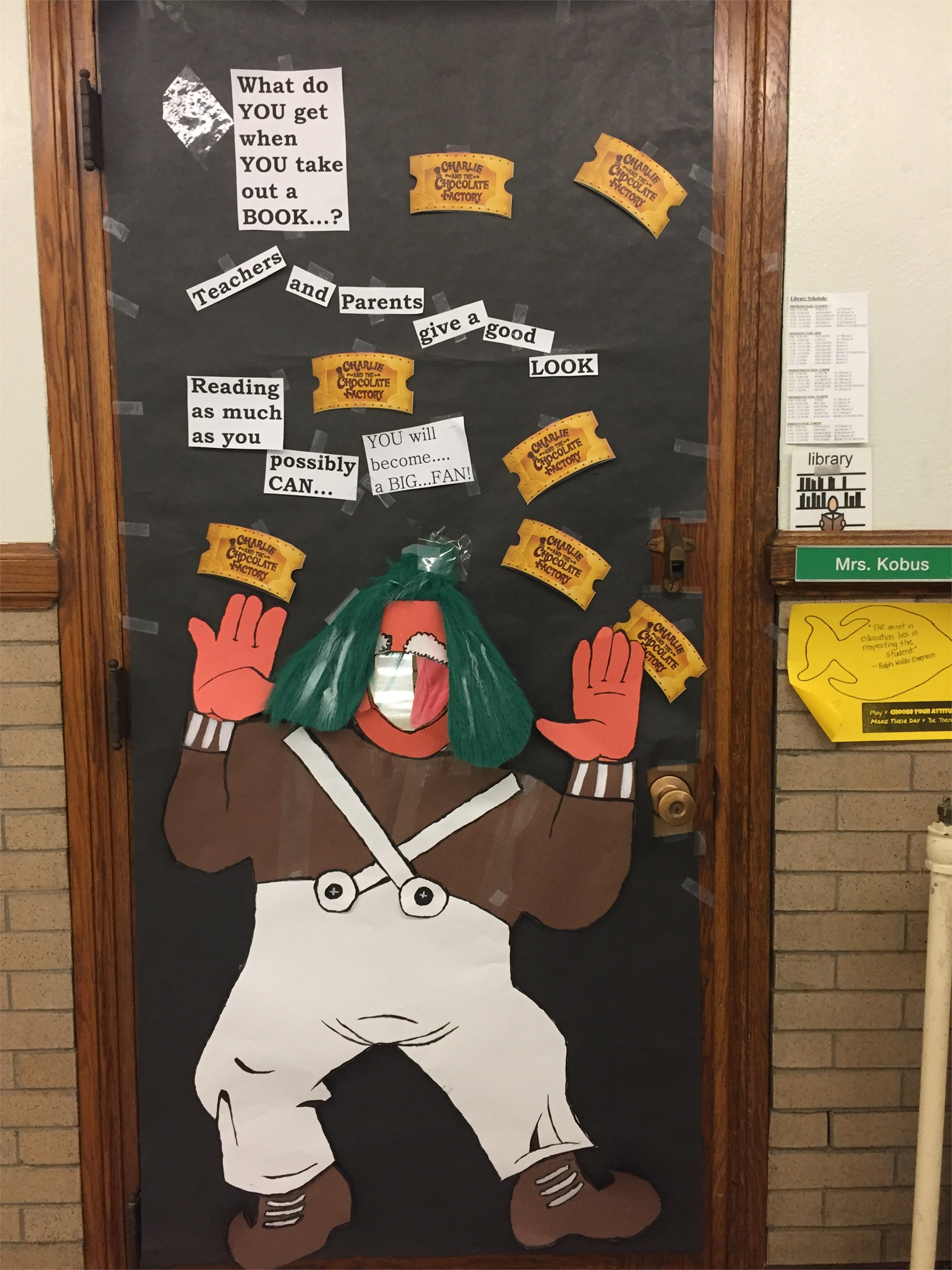 Charlie and the Chocolate Factory Hallway Decoration Winners