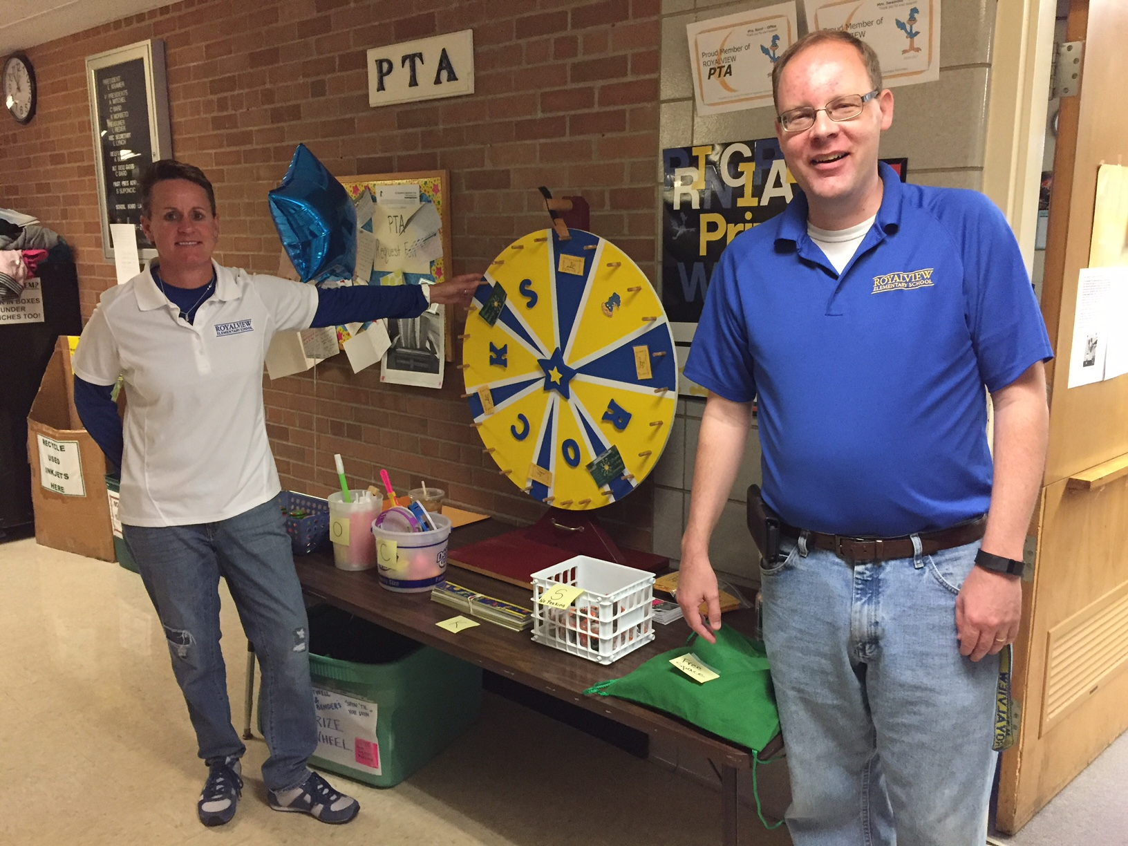 Spin the Principals' Wheel at our annual PTA Carnival!