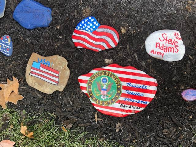 Rocks honoring those who served.