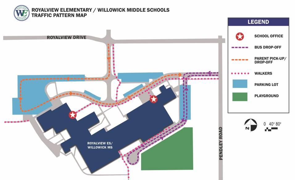 Willowick Traffic Pattern Map