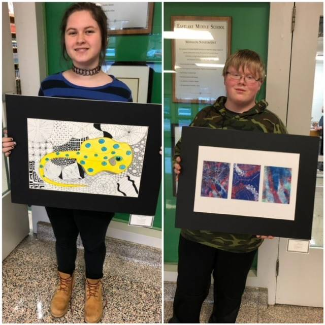 Winners of the Geauga County Juried Student Art Awards Show