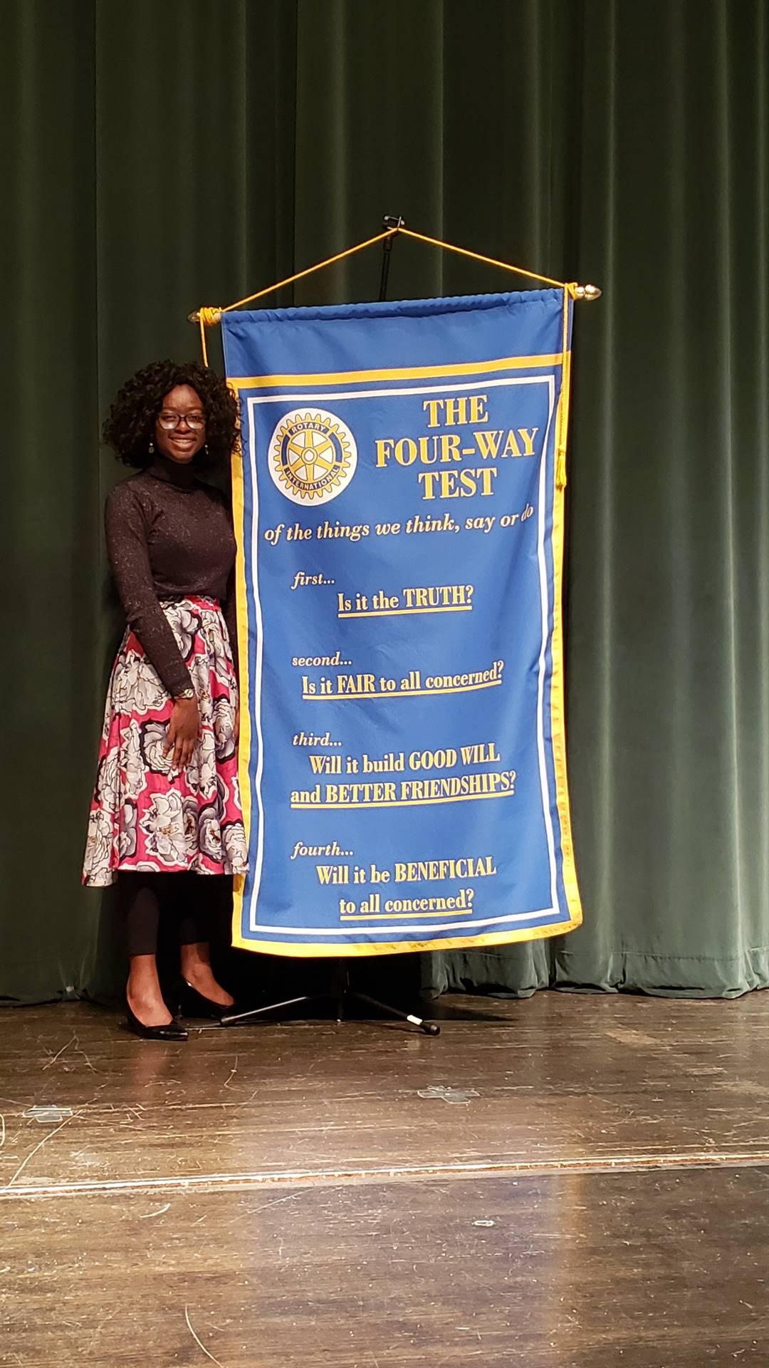 Congratulations Oluwabukunmi Araba 1st Place Four Way Speech