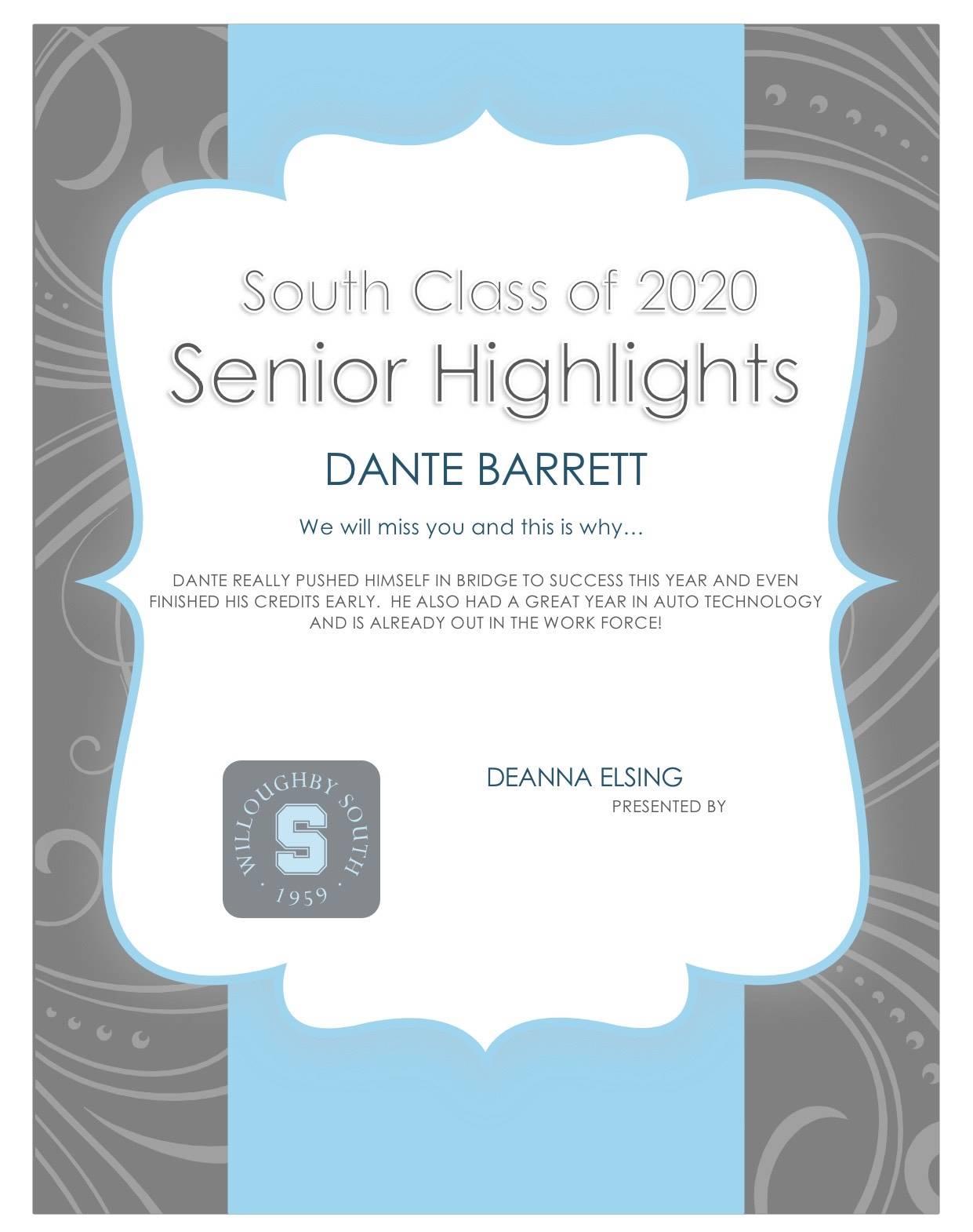 Dante Barnett