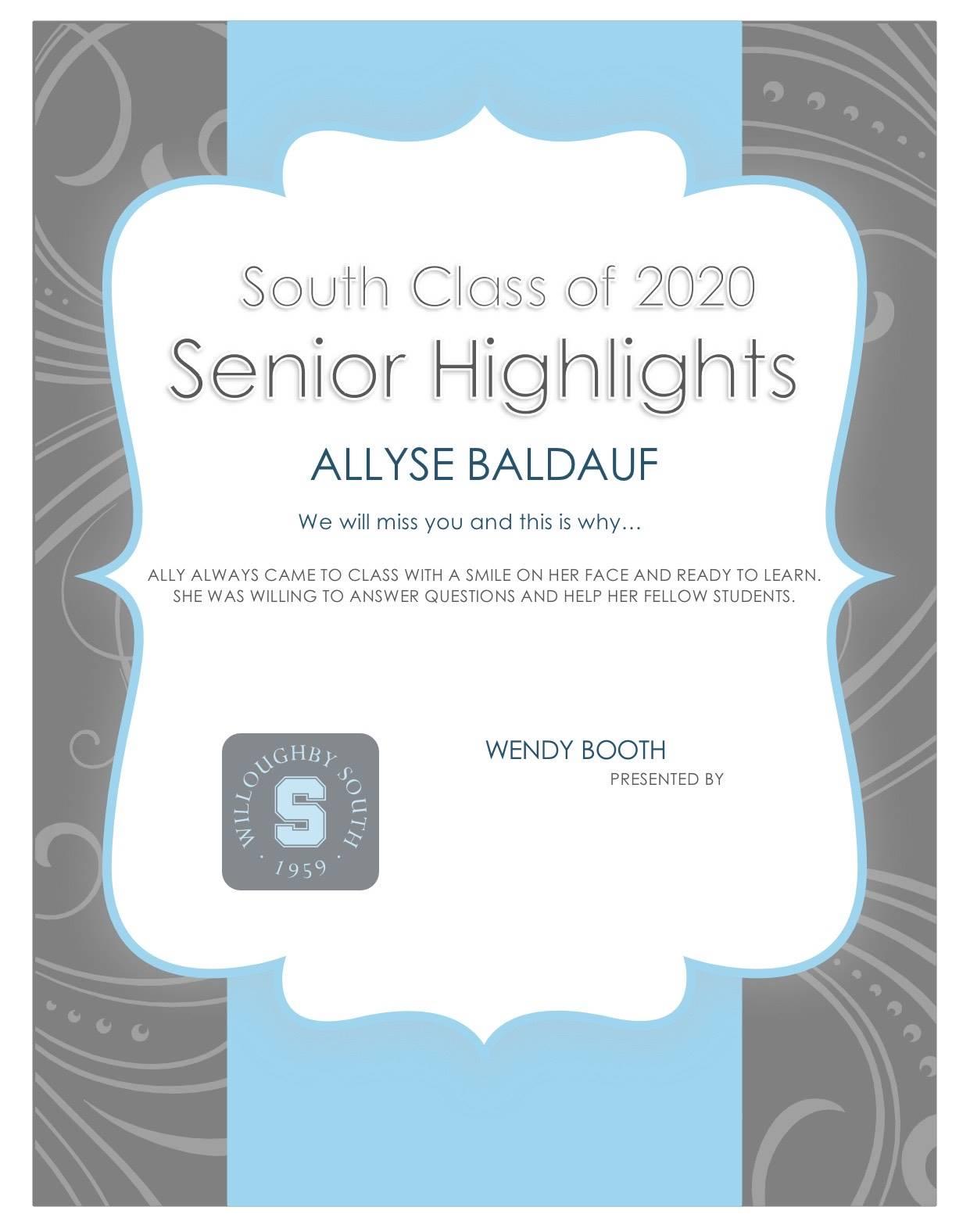 Allyse Baldauf