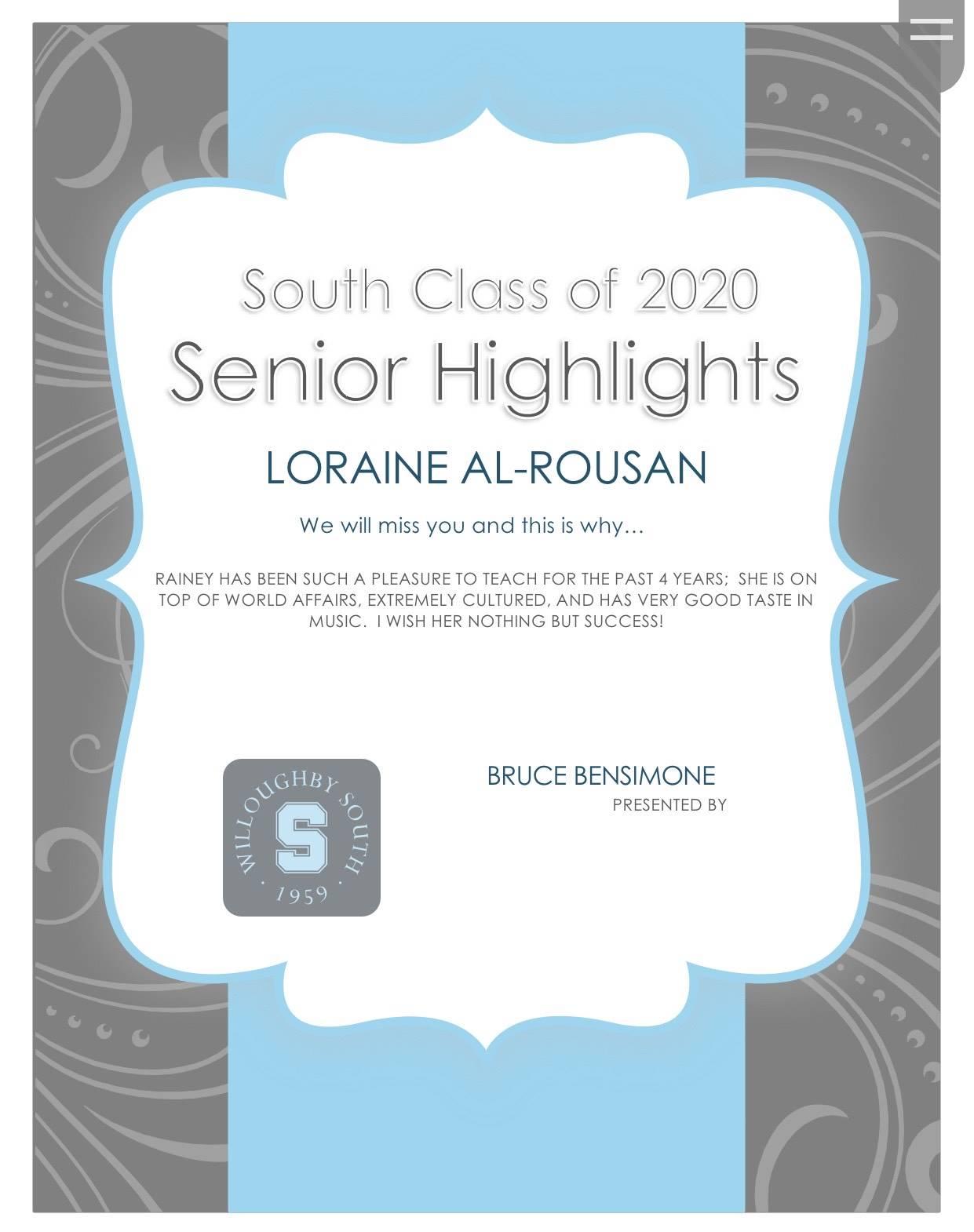 Loraine Al-Rousan