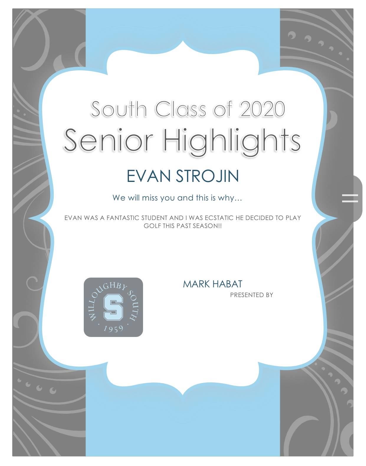 Evan Strojin