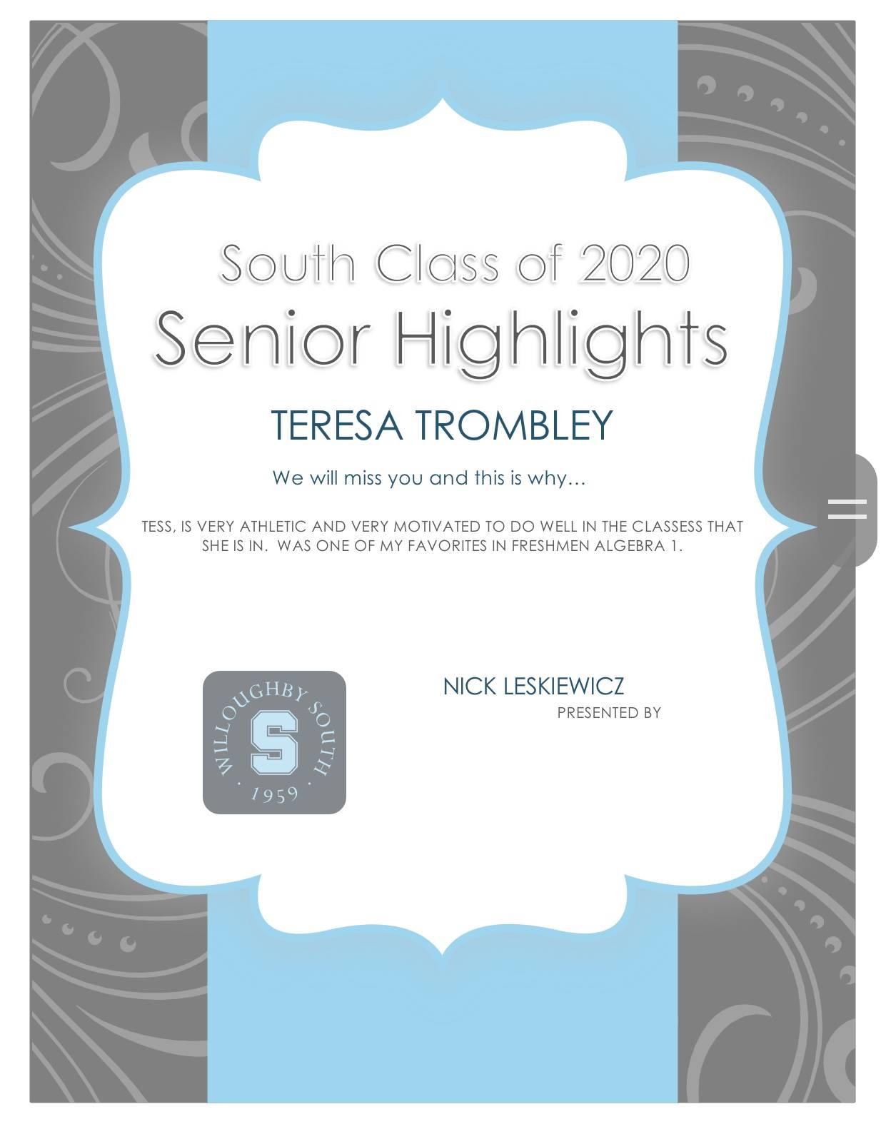 Teresa Trombley