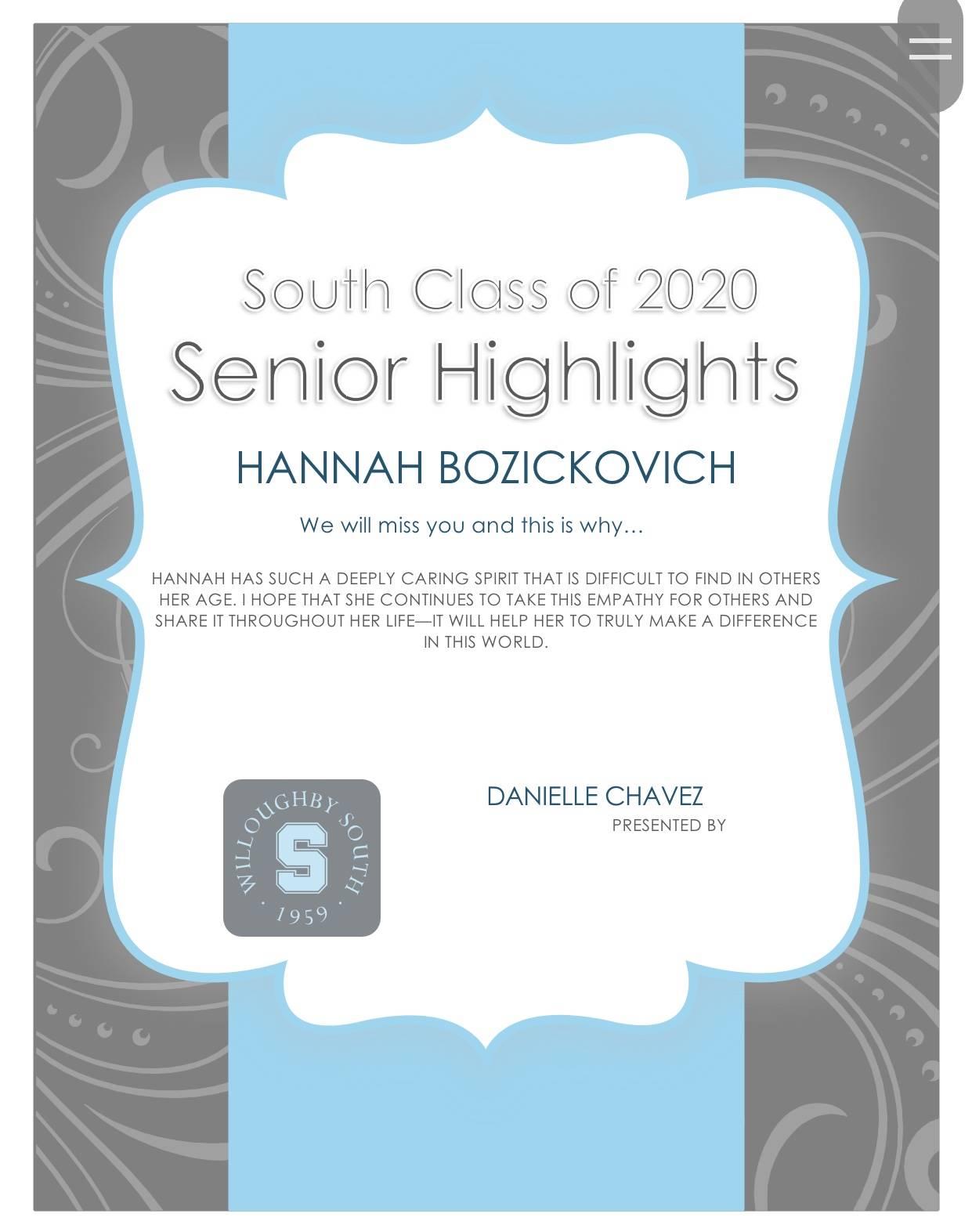 Hannah Bozickovich