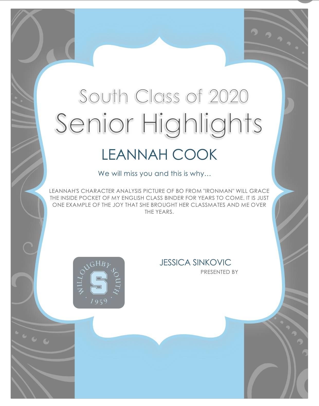 Leannah Cook