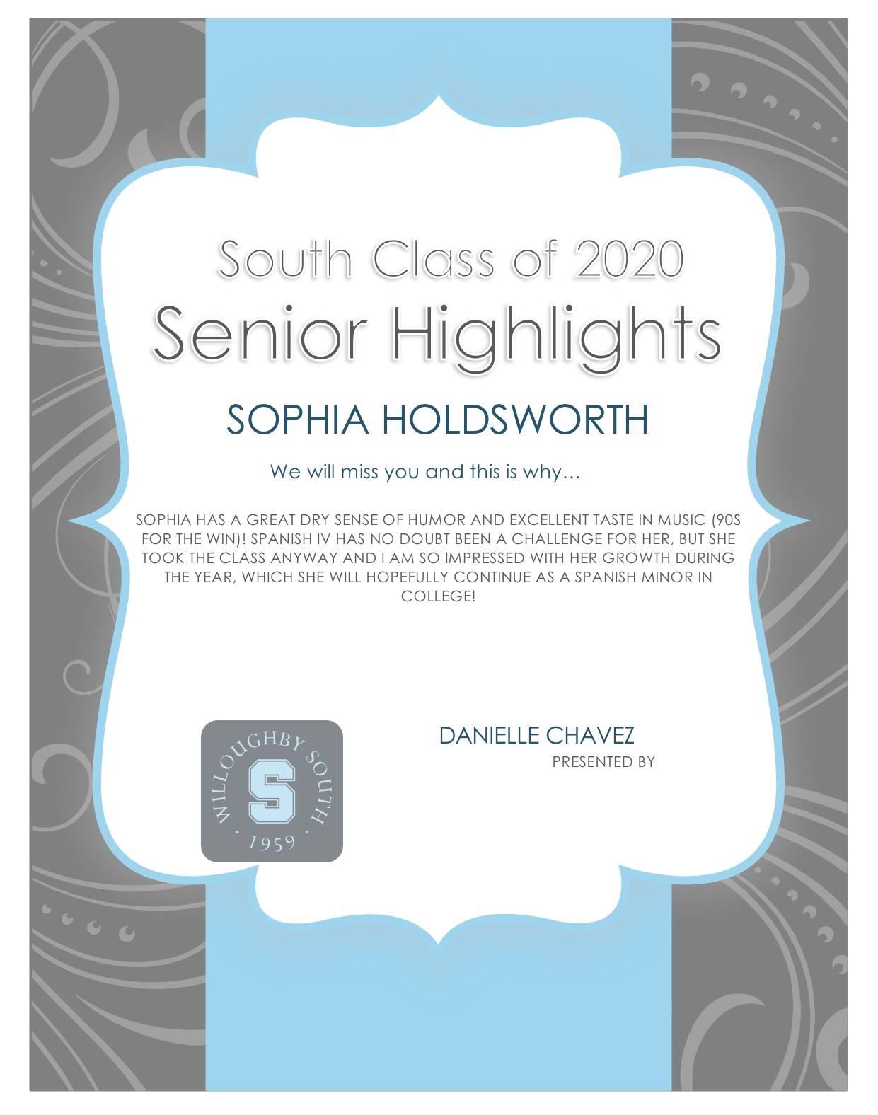Sophia Holdsworth