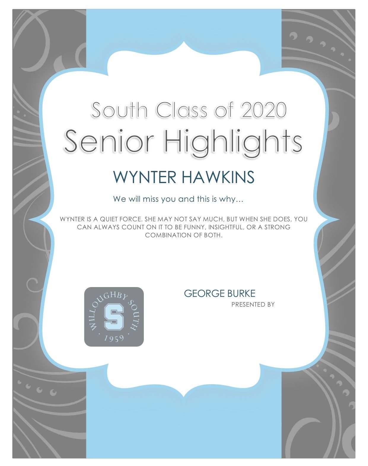 Wynter Hawkins