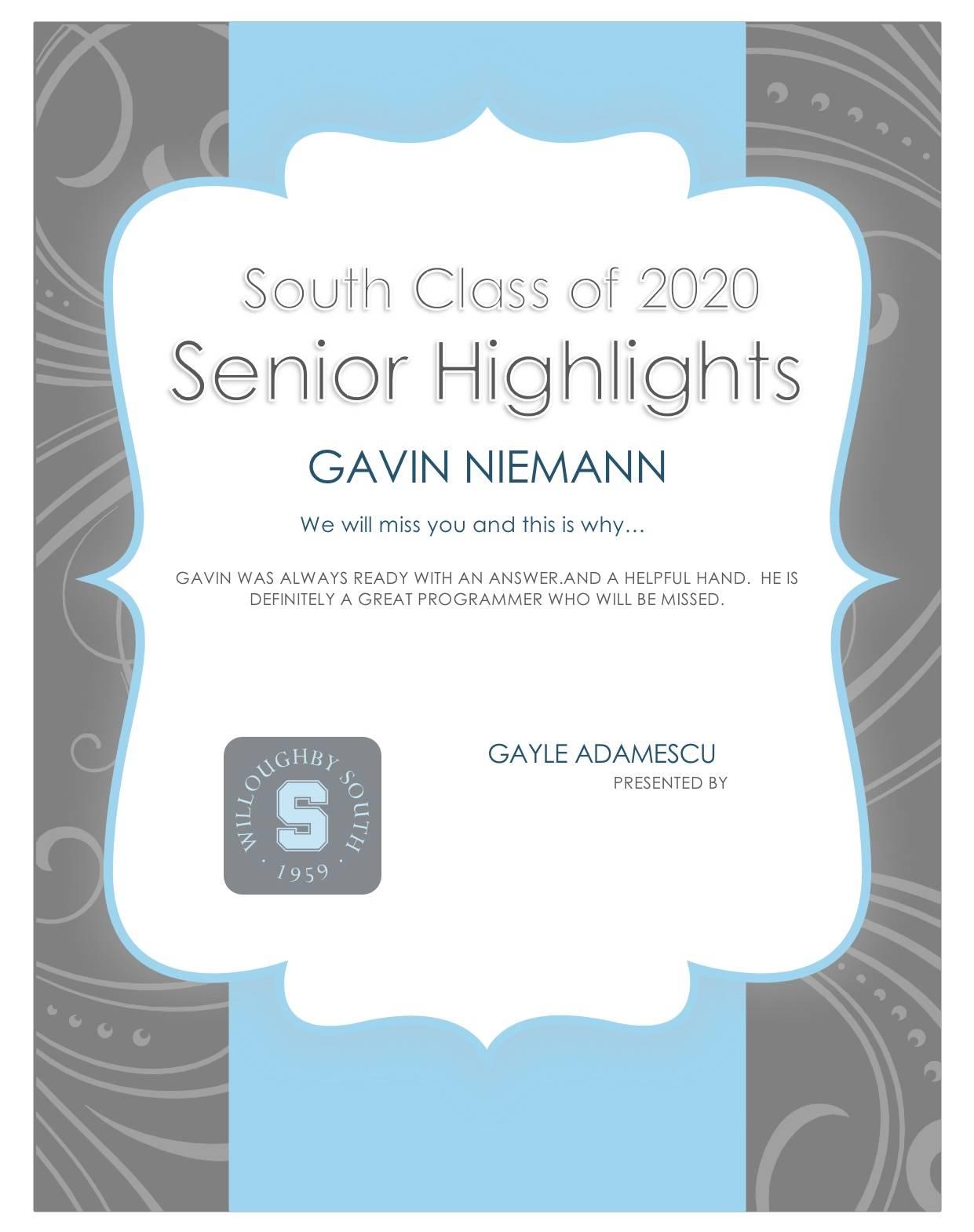 Gavin Neimann