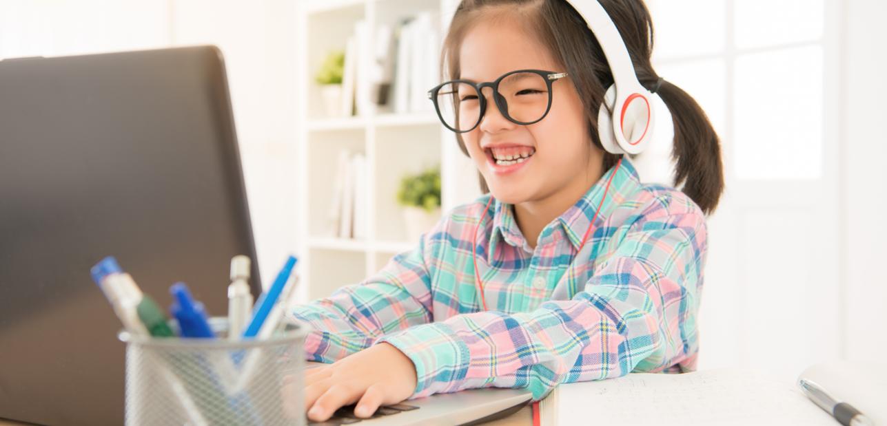 Girl Working on Laptop 2
