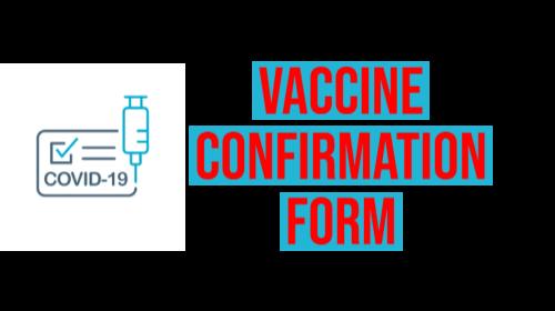 Vaccine Confirmation Form